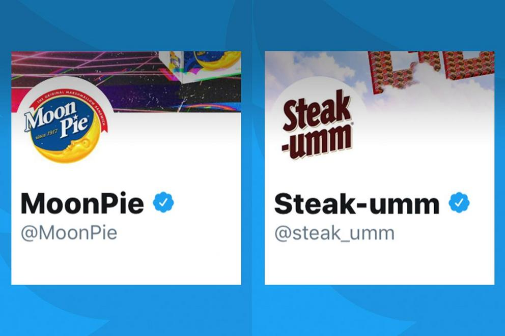 Which brand has the best Twitter account: Steak-Umm or MoonPie?