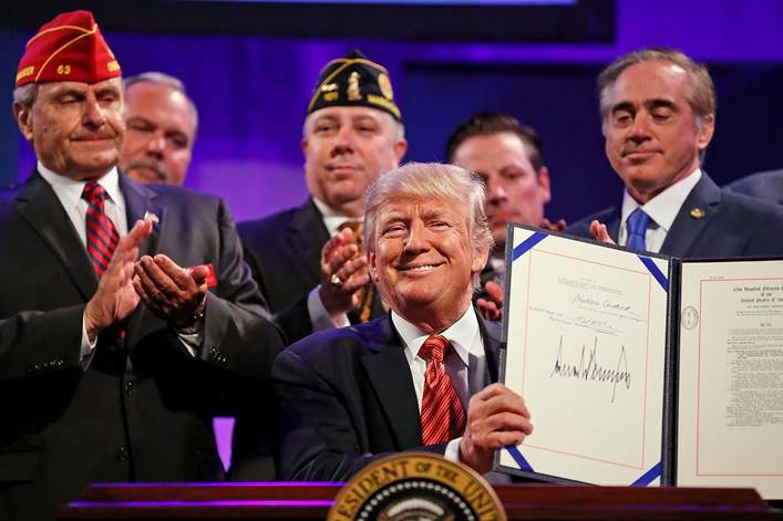 Does President Trump actually put veterans first?