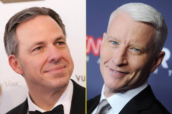Who is CNN's hottest anchor: Jake Tapper or Anderson Cooper?