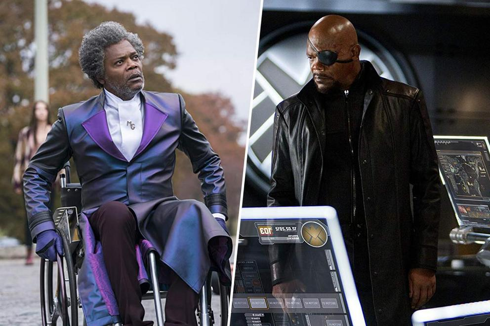 Samuel L. Jackson's best geek role: Mr. Glass or Nick Fury?