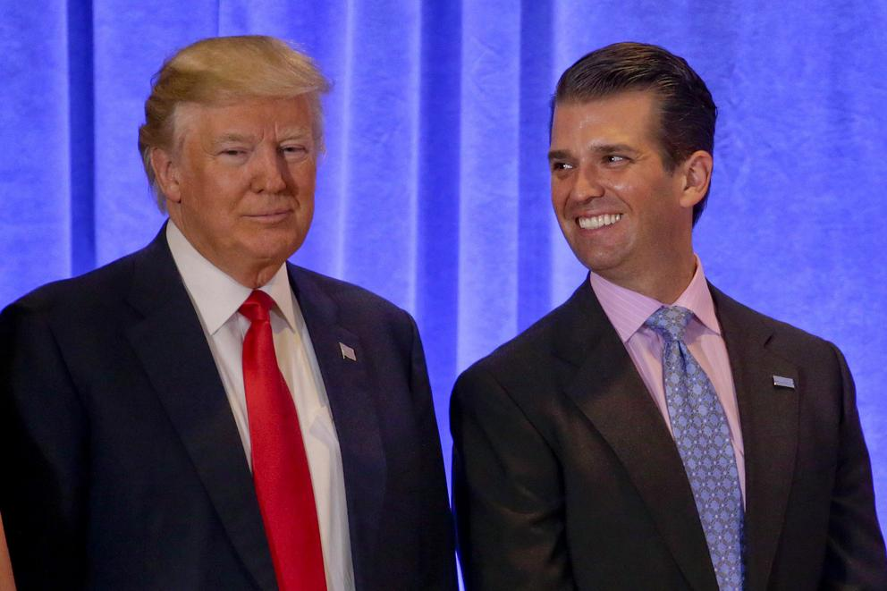 Did President Trump's son commit treason?