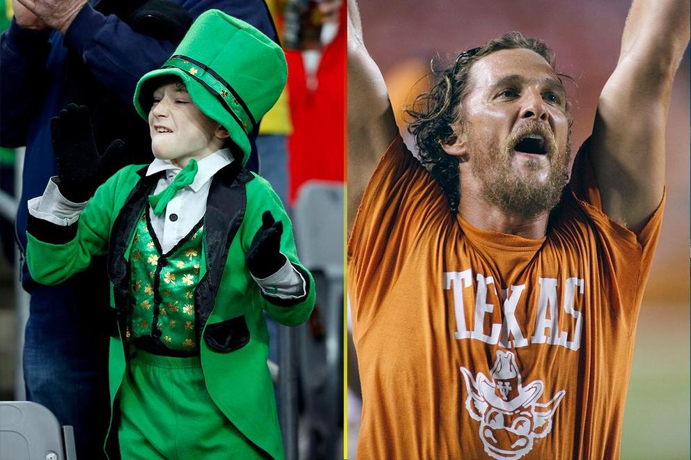 NCAA's Best College Fan Base: Notre Dame or Texas?