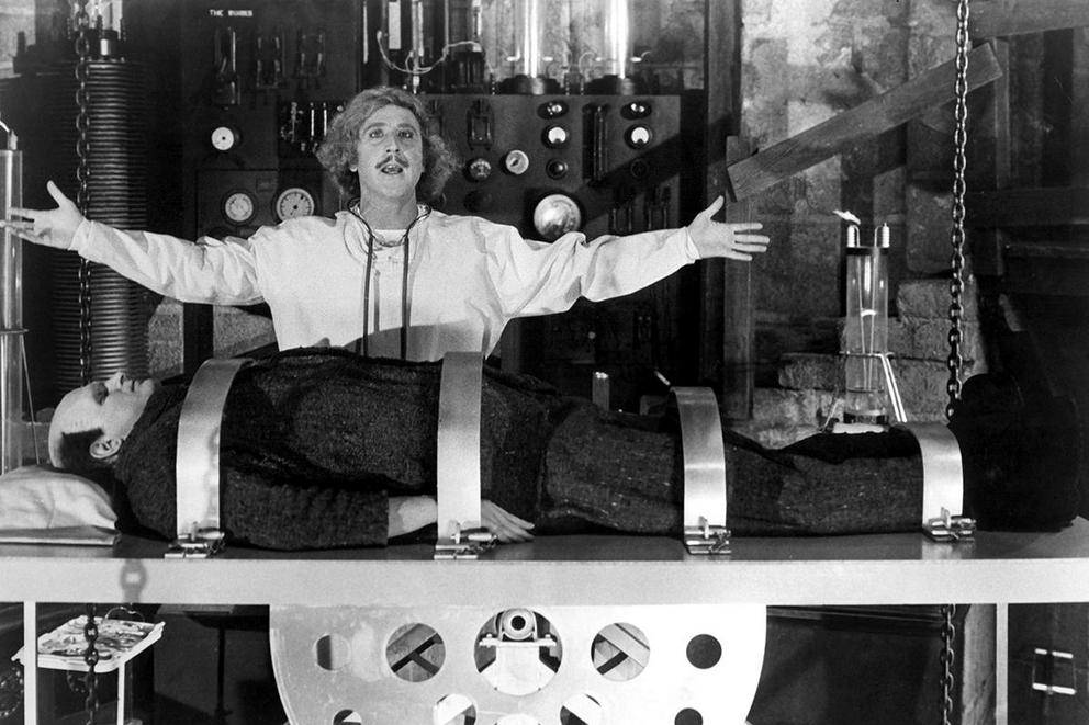 Which is Gene Wilder's funniest movie: 'Young Frankenstein' or 'Blazing Saddles'?
