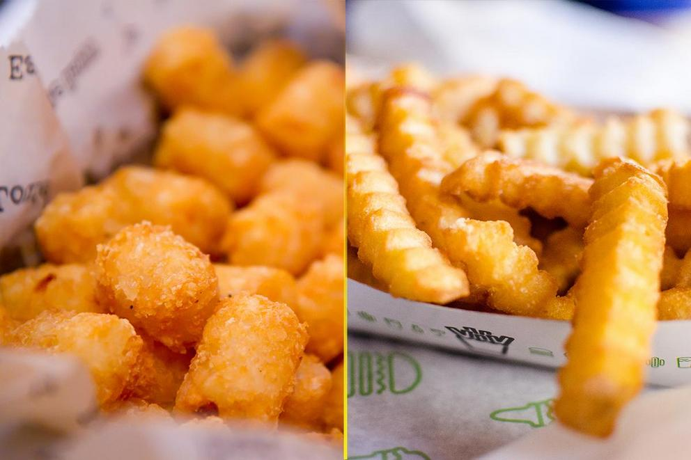 Which fries are the best: Tater tots or crinkle cut fries?