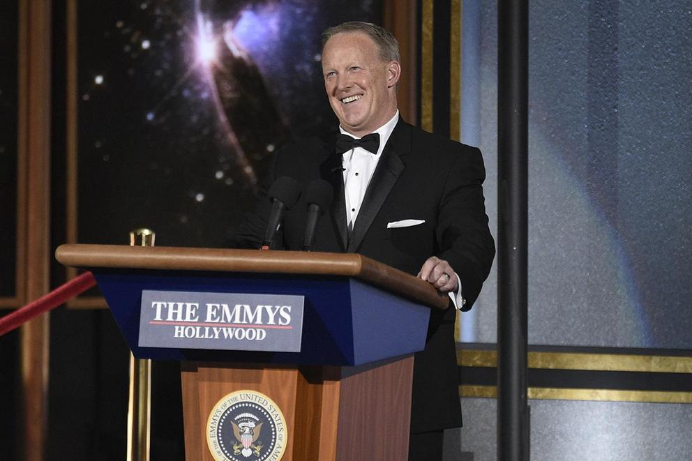 Was it wrong to feature Sean Spicer at the Emmys?