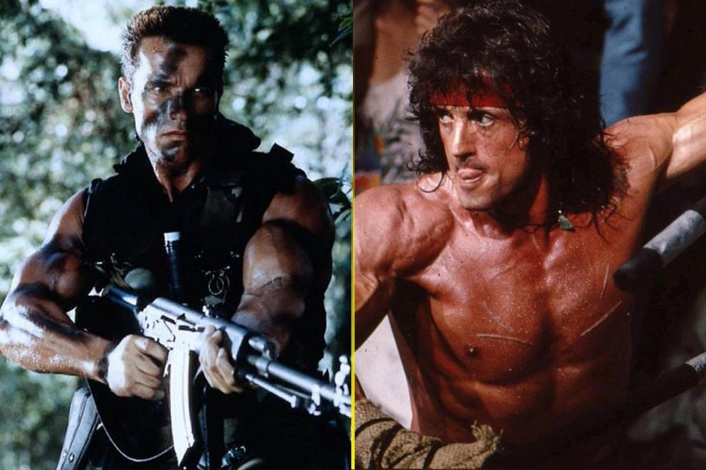 Most badass action hero: Arnold Schwarzenegger or Sylvester Stallone?