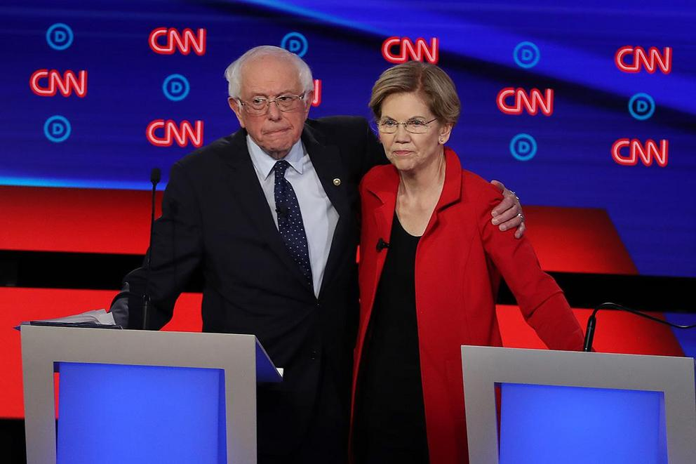 Would you rather vote for Bernie Sanders or Elizabeth Warren for President?