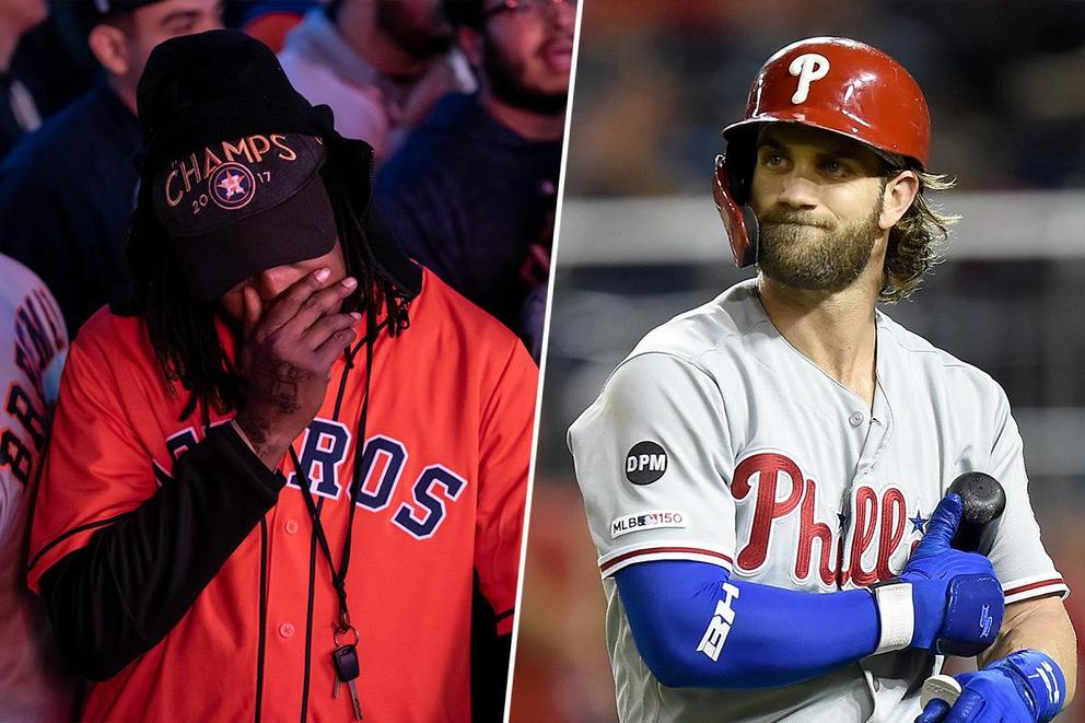 Who's more upset the Nationals won the World Series: The Astros or Bryce Harper?