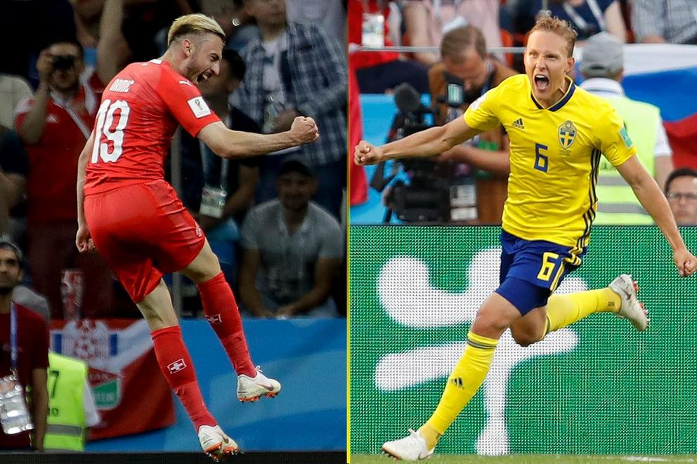 Who will advance to the World Cup quarterfinal: Switzerland or Sweden?