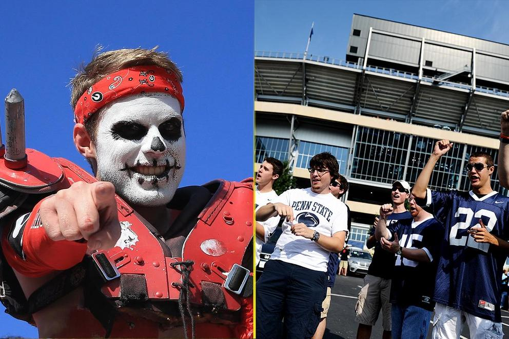 Who has the best tailgate: Georgia or Penn State?