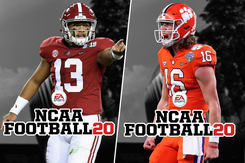 "Who would be the ""NCAA Football 20"" cover athlete: Tua Tagovailoa or Trevor Lawrence?"