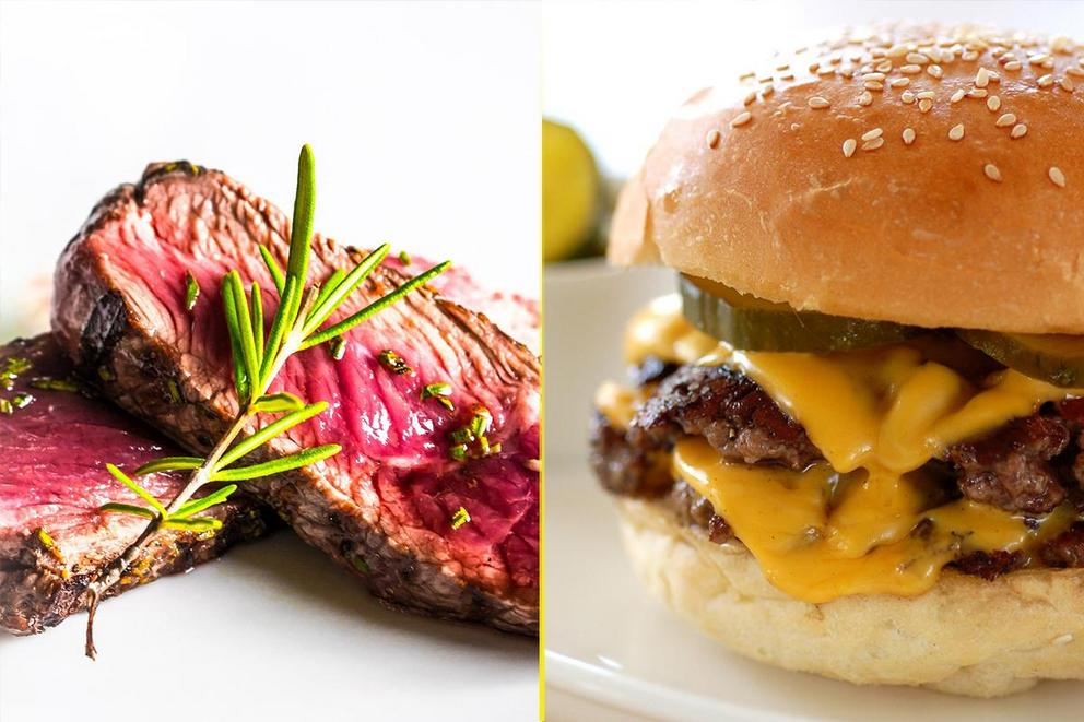 Would you rather have a steak or a burger?