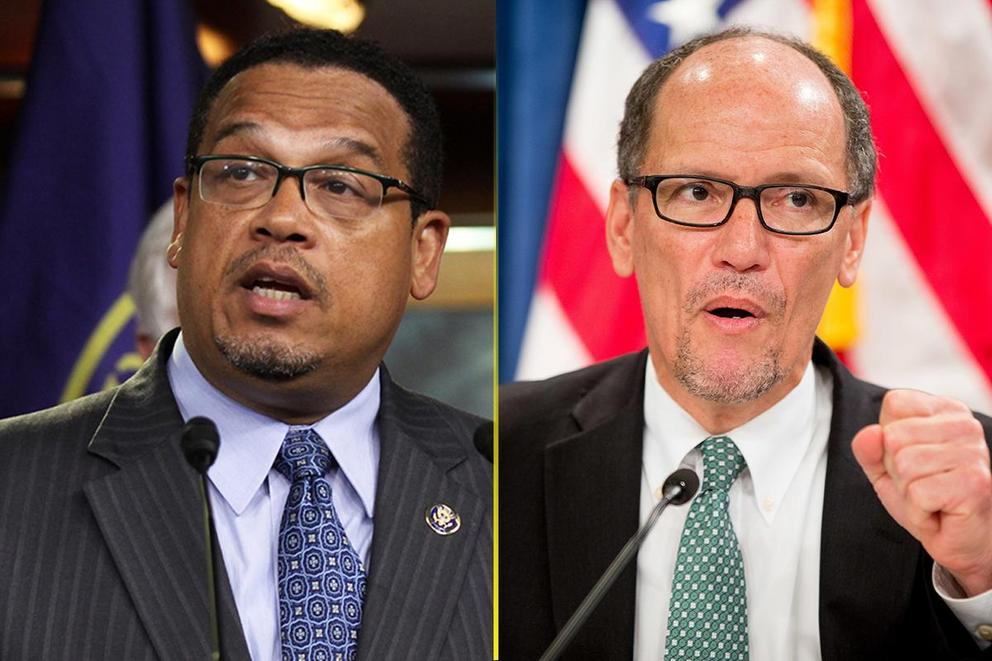 Who should be chair of the Democratic National Committee: Keith Ellison or Tom Perez?