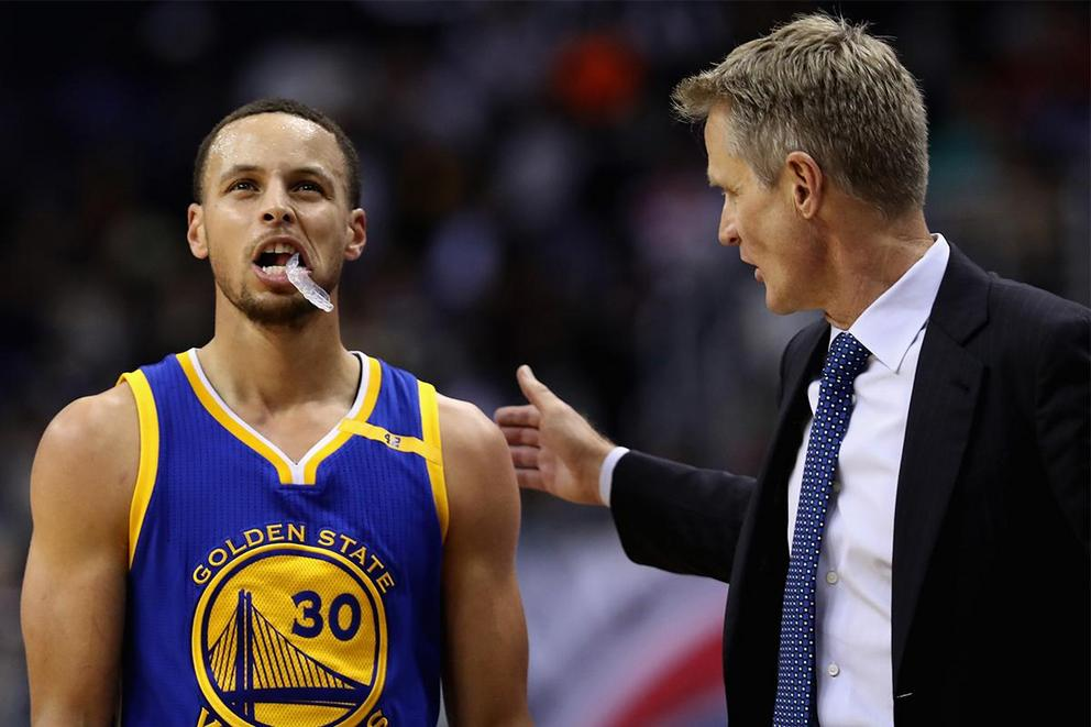 Who would in a 3-point shootout in their primes: Stephen Curry or Steve Kerr?