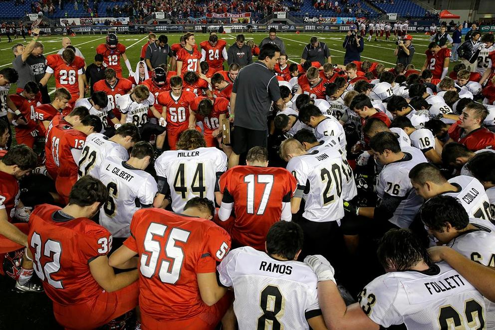 Should public high school coaches be allowed to lead prayers on the field?