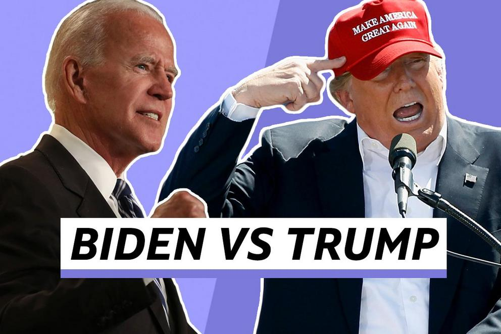 Who do you want to be president–Joe Biden or Donald Trump?