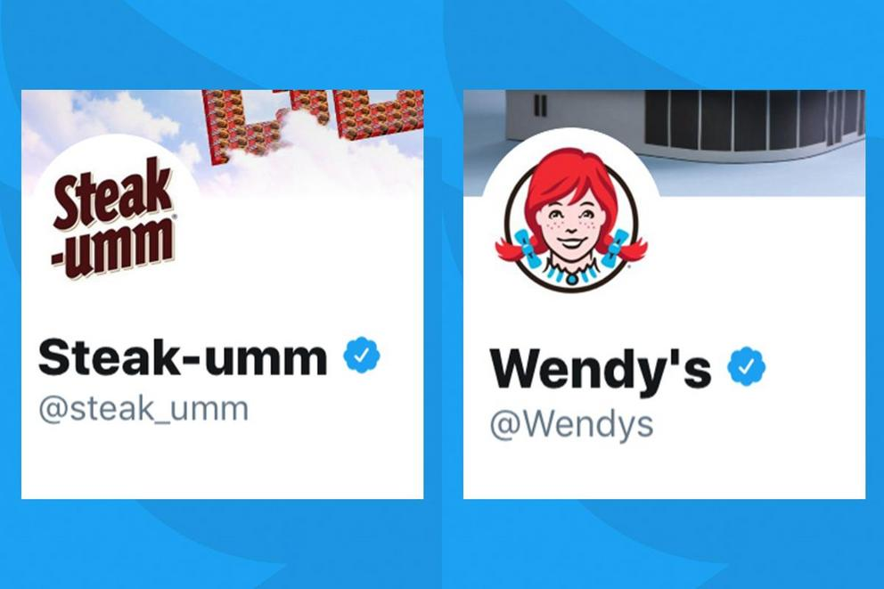 Which brand has the best Twitter account: Steak-Umm or Wendy's?
