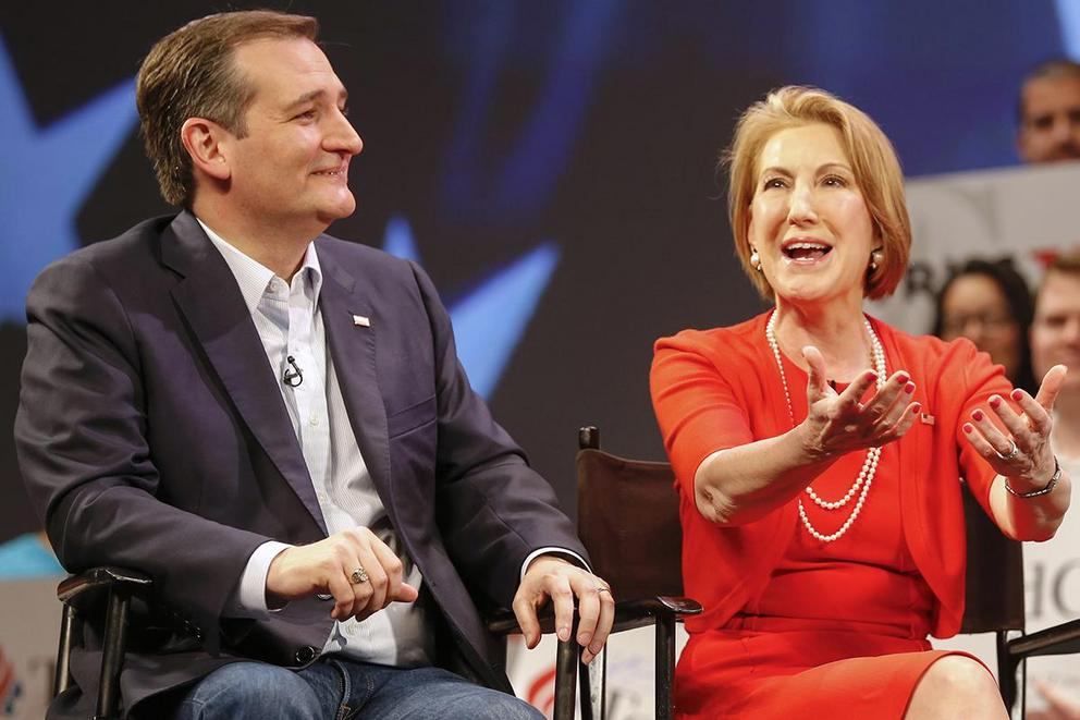 Ted Cruz surprises by announcing Carly Fiorina as his running mate
