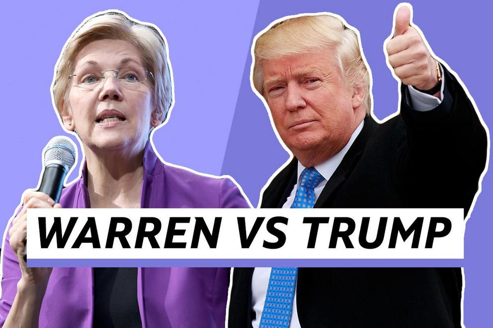 Who do you want to be president–Elizabeth Warren or Donald Trump?