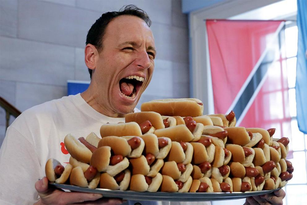 Is eating hot dogs a sport?