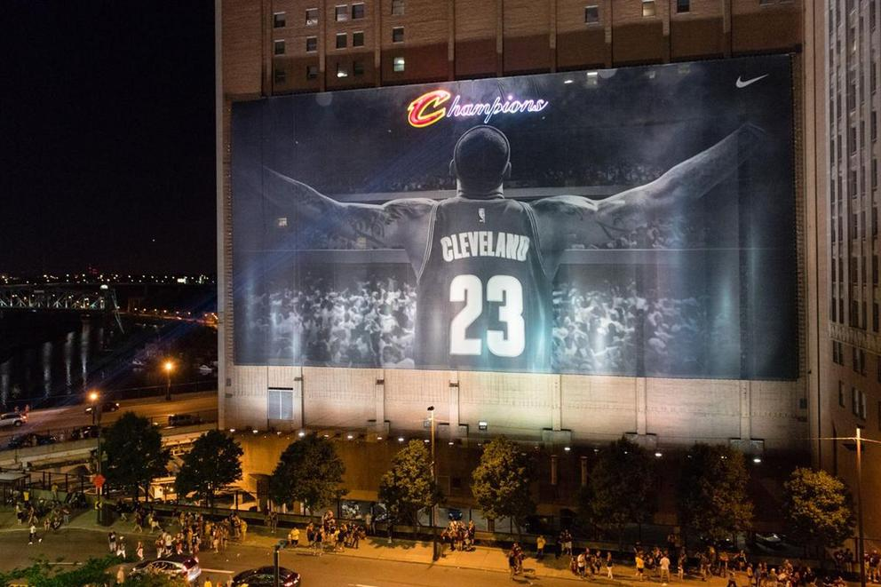 Cleveland's LeBron James banner to come down for the RNC convention. Should it stay up?