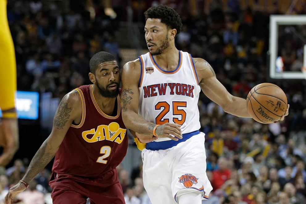 Who's a better sidekick for LeBron James: Derrick Rose or Kyrie Irving?