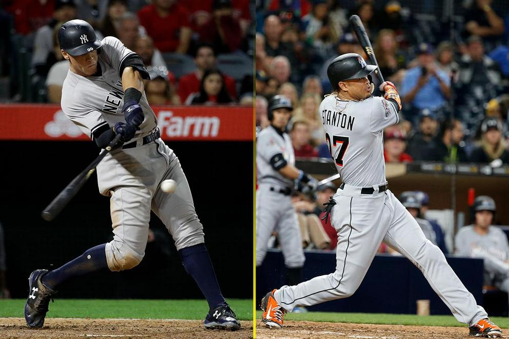 Who wins in a home run derby: Aaron Judge or Giancarlo Stanton?