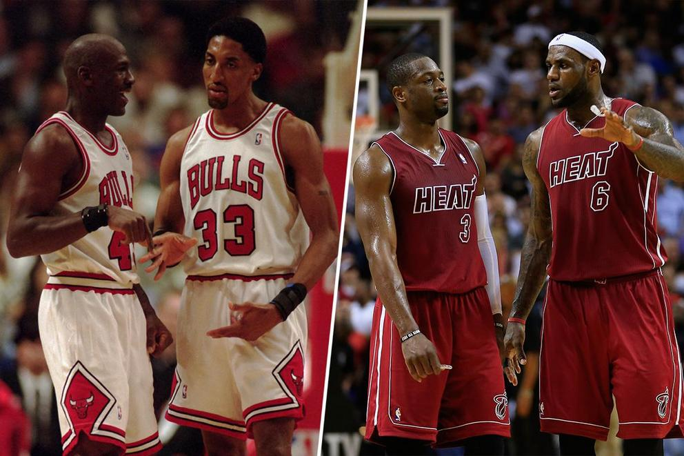 Jordan-Pippen vs. LeBron-Wade: Who would win 2-on-2 in their primes?