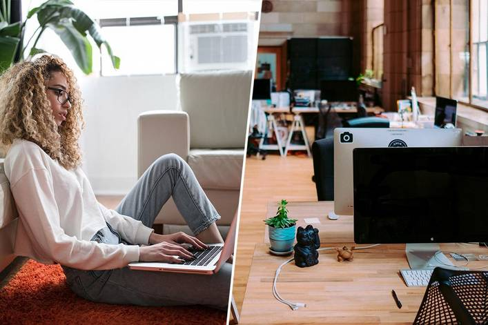 Would you rather work from home or at an office?