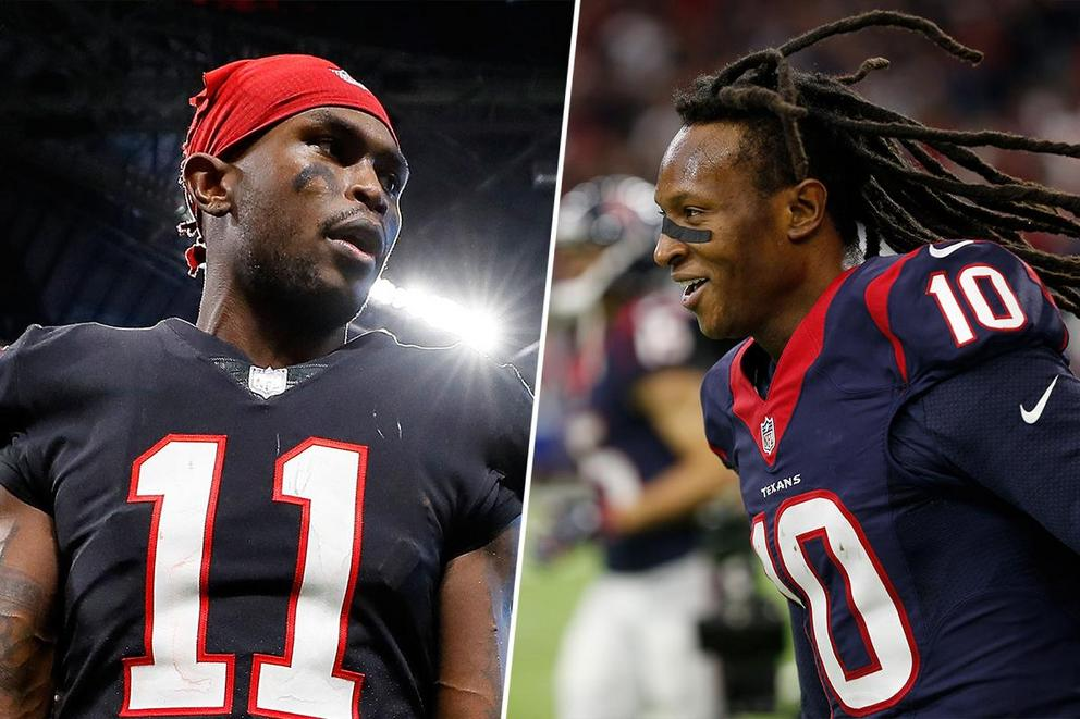 Who would you trust to catch a baby—Julio Jones or DeAndre Hopkins?