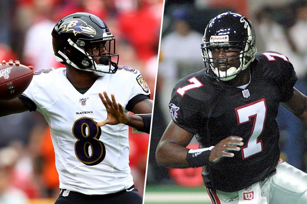 Who would win in a race: Lamar Jackson or Michael Vick?