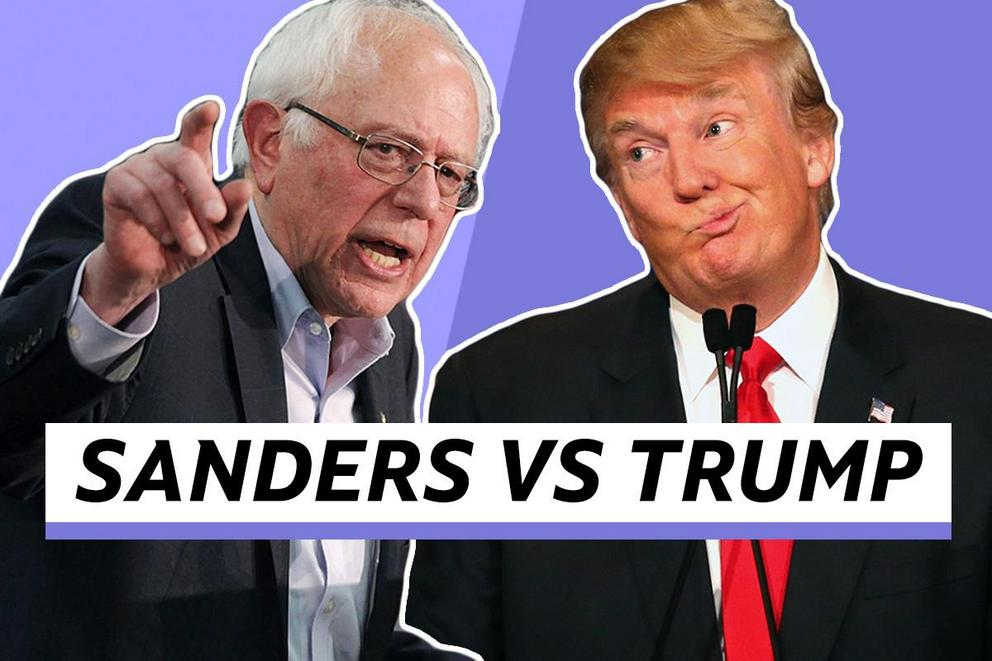 Who do you want to be president—Bernie Sanders or Donald Trump?
