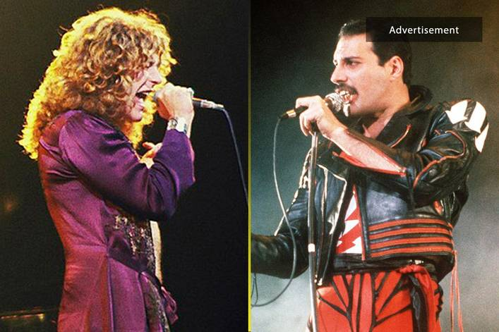 Greatest male rock vocalist of all time: Freddie Mercury or Robert Plant?