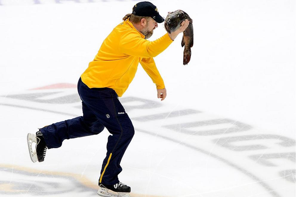 Should you be arrested if you throw things on the ice at a hockey game?