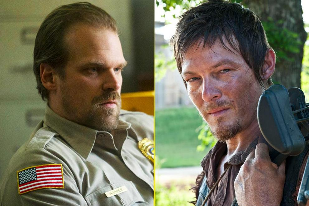 Who's hotter: Sheriff Hopper or Daryl Dixon?