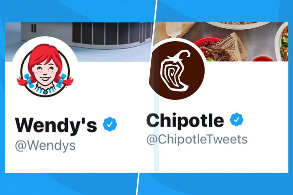 Which brand has the best Twitter account: Wendy's or Chipotle?