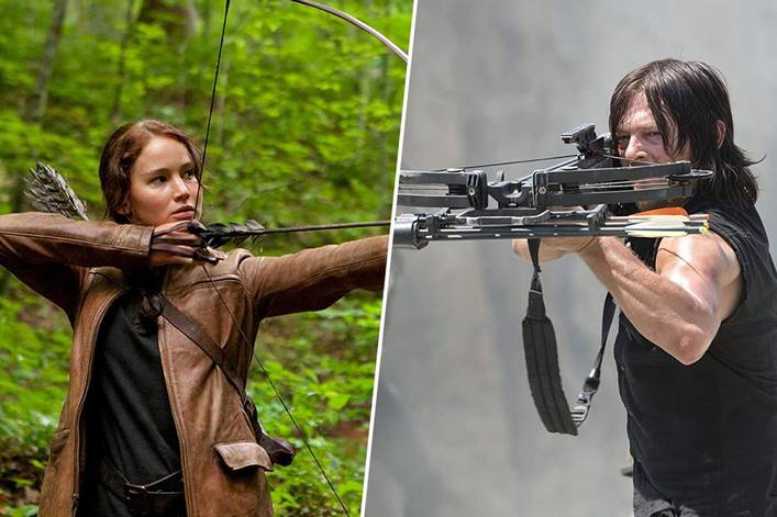 Post-apocalyptic BFF: Katniss Everdeen of 'Hunger Games' or Daryl Dixon of 'The Walking Dead'?