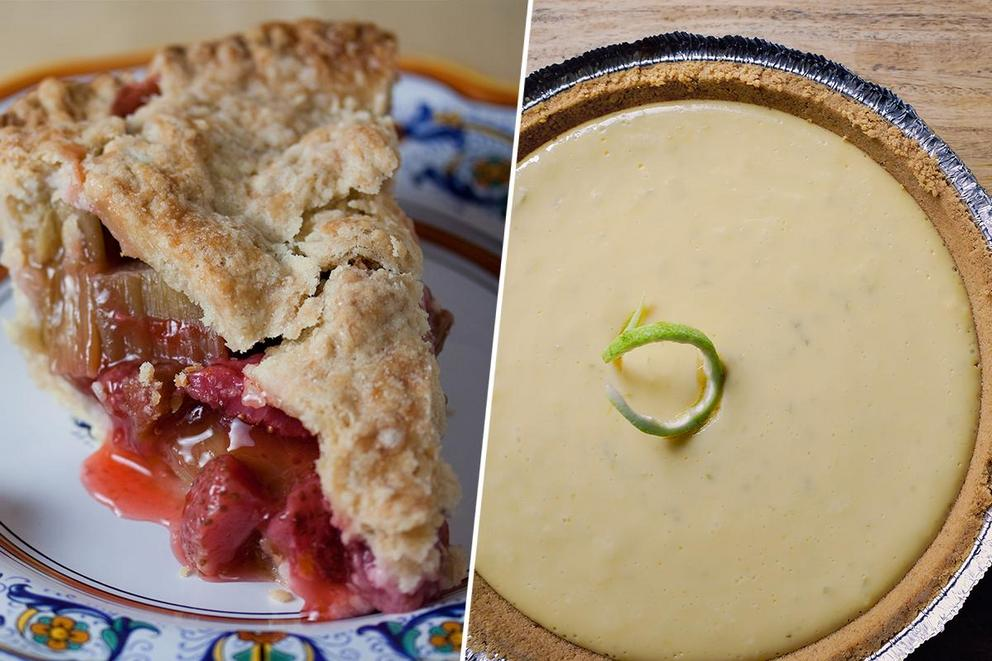 Which pie is better: Rhubarb pie or key lime pie?