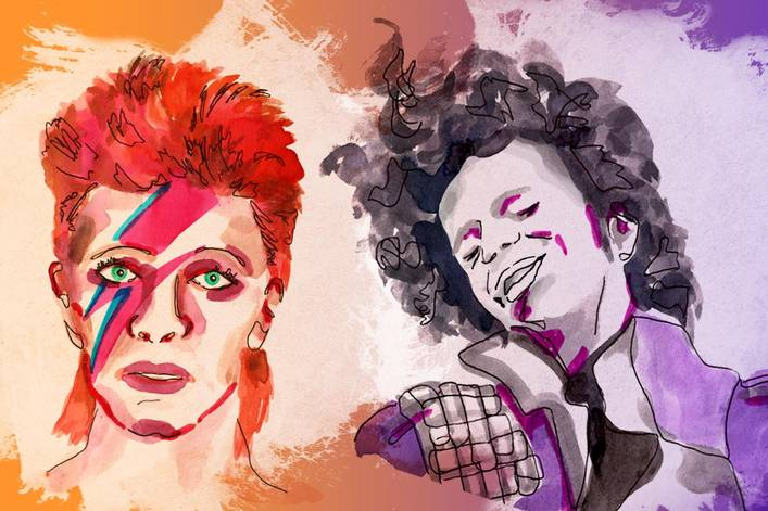 Most influential androgynous music icon: David Bowie or Prince?