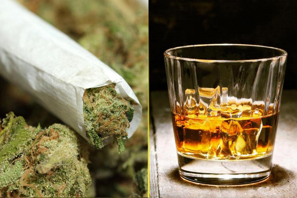 Which is better: Pot or booze?