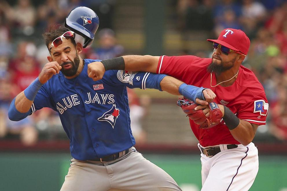 Blue Jays and Rangers brawl: Who was to blame, Jose Bautista or Rougned Odor?