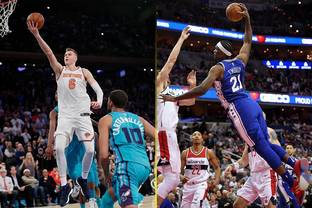 Which NBA big man would you rather have: Kristaps Porzingis or Joel Embiid?