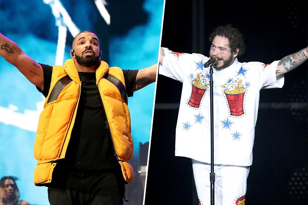 Most popular hip-hop artist: Drake or Post Malone?