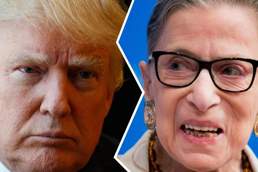 Ruth Bader Ginsburg called out Trump. Is she right to do so?