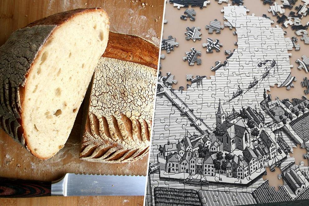 Which would you rather complete: a perfect sourdough loaf or a 1000-piece puzzle?