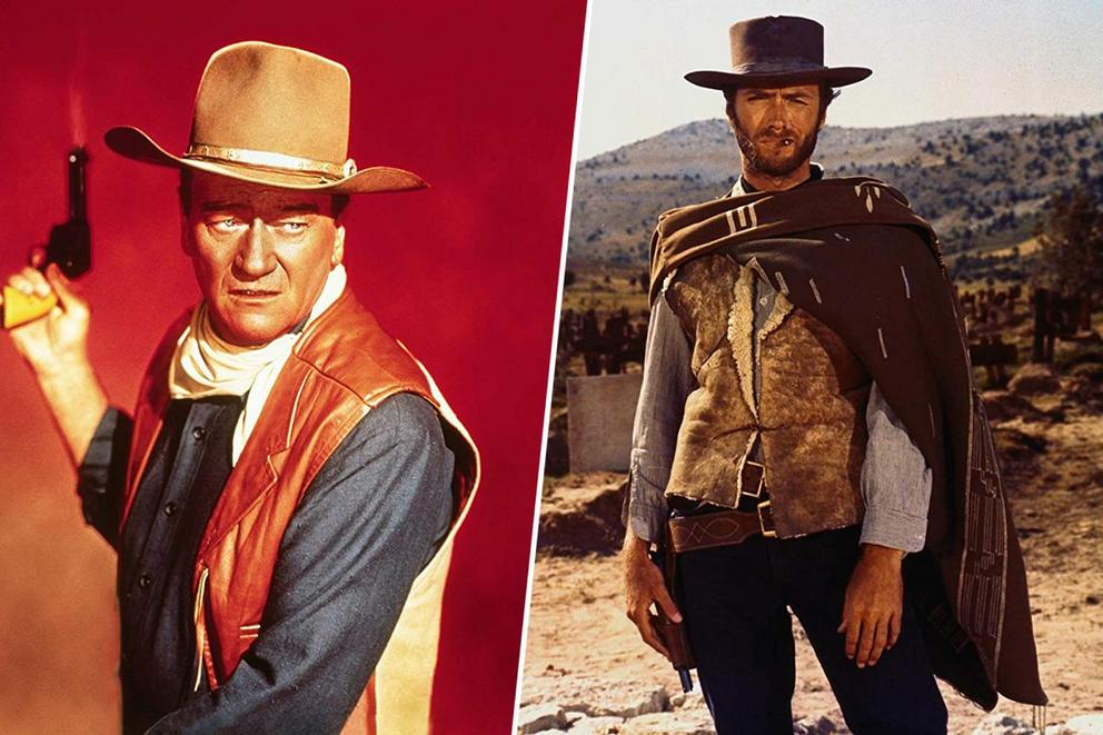 Who'd bring the law to your town: John Wayne or Clint Eastwood?