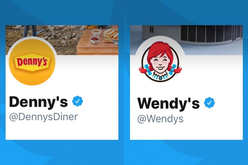 Which brand has the best Twitter account: Denny's or Wendy's?