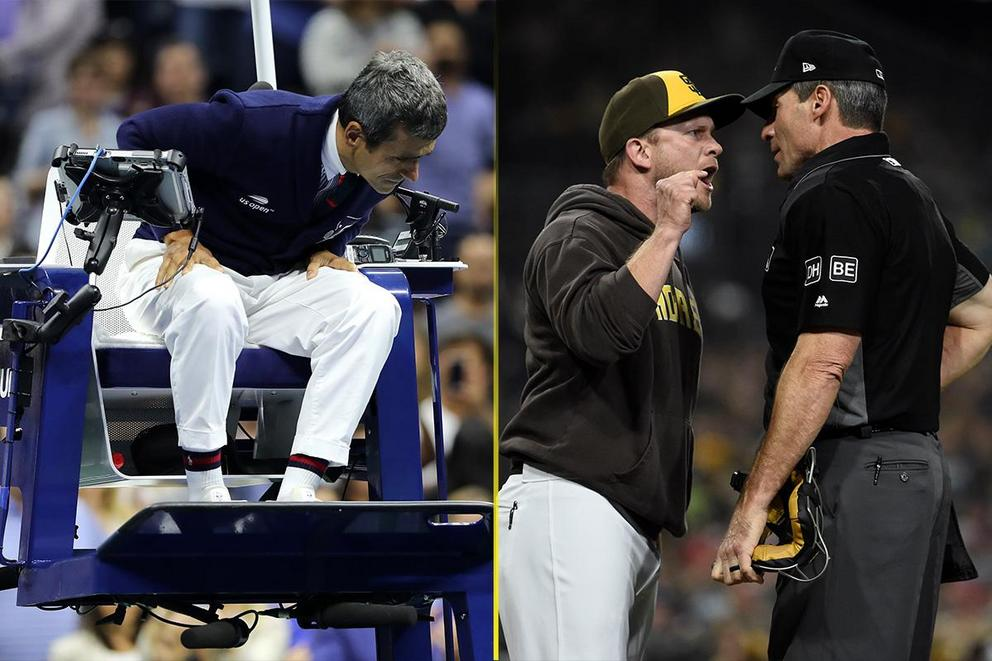 Which umpires are the biggest snowflakes: Tennis or baseball?