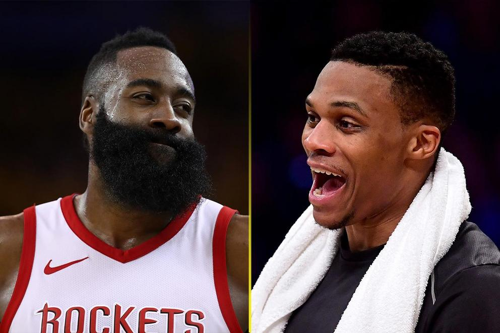Best NBA GIF: Harden's side-eye or Westbrook's 'interesting' reaction?