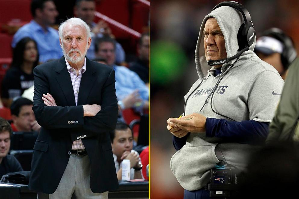 Best grumpy coach of the year: Gregg Popovich or Bill Belichick?